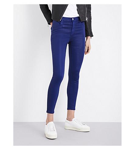 J BRAND Alana skinny cropped mid-rise jeans (Coated+celeste
