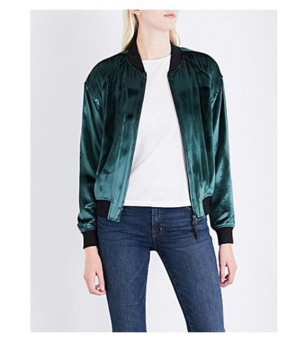 J BRAND FASHION Pace velvet bomber jacket (Moorland