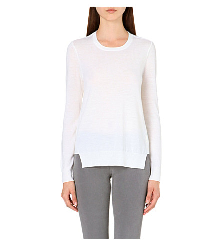 J BRAND FASHION Theodate wool and chiffon jumper (White