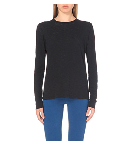 J BRAND FASHION Montara cotton-jersey top (Black