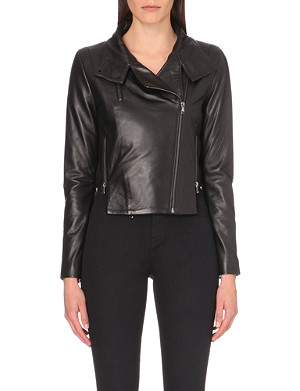 J BRAND FASHION Connnix leather biker jacket