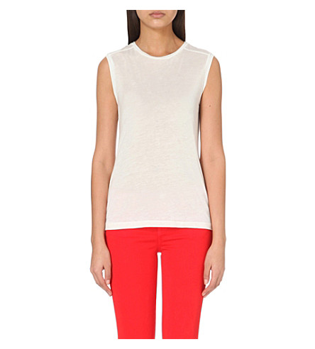 J BRAND FASHION Sleeveless jersey top (White