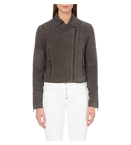 J BRAND FASHION Aiah leather biker jacket (Dark+shadow