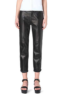 J BRAND Paulette boyfriend-fit leather trousers