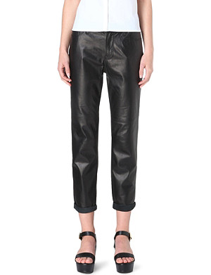 J BRAND Paulette boyfriend-fit leather trousers