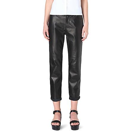 J BRAND Paulette boyfriend-fit leather trousers (Black