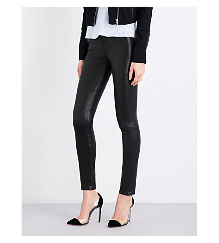 J BRAND Maria skinny leather jeans (Black