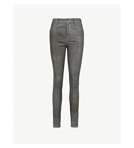 J BRAND Maria skinny leather jeans (Granite