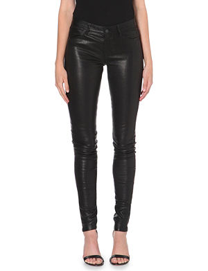 J BRAND 624 Stacked skinny leather jeans