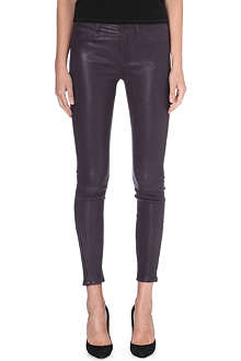 J BRAND Skinny mid-rise leather trousers