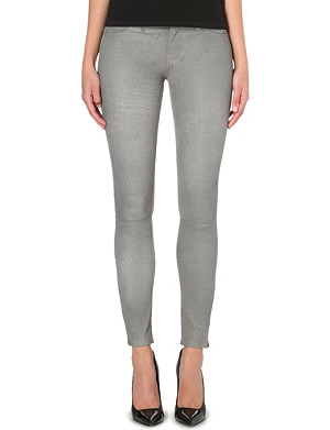 J BRAND Skinny mid-rise leather jeans