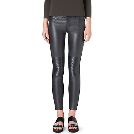 J BRAND Nicola leather moto trousers (Pewter