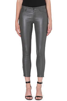 J BRAND L8035 Leather Capri skinny cropped jeans