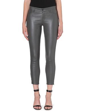 J BRAND L8035 Leather Capri skinny cropped jeans