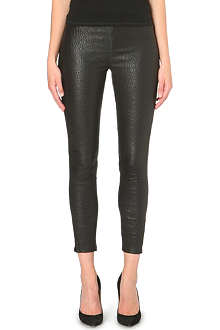 J BRAND Cropped leather leggings