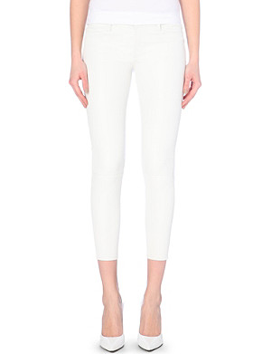J BRAND Marie skinny mid-rise leather jeans