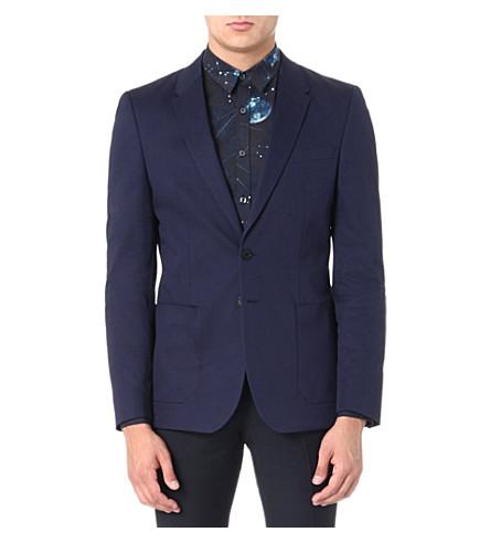 PS BY PAUL SMITH Patch pocket stretch-cotton blazer (Navy