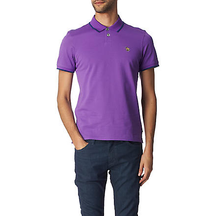 PAUL SMITH JEANS Zebra tipped polo shirt (Purple