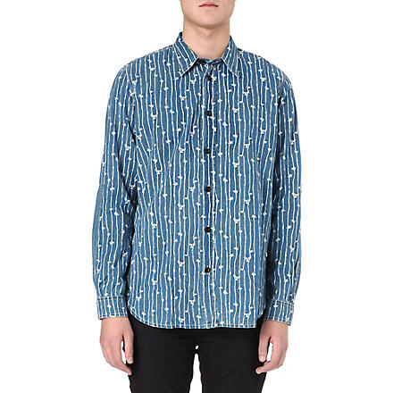 RED EAR Bamboo print shirt (Blue
