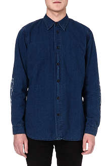 RED EAR Indigo bamboo denim shirt