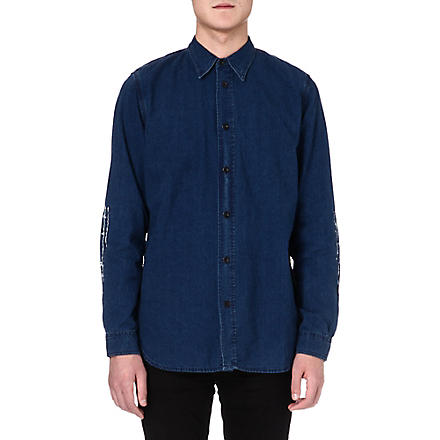 RED EAR Indigo bamboo denim shirt (Blue