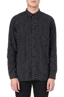 RED EAR Woven dotted shirt
