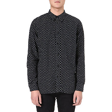 RED EAR Woven dotted shirt (Indigo