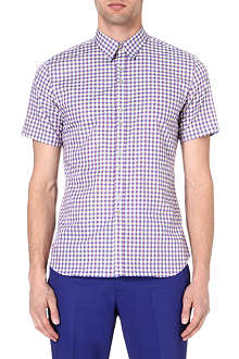 PAUL SMITH Gingham short-sleeved shirt
