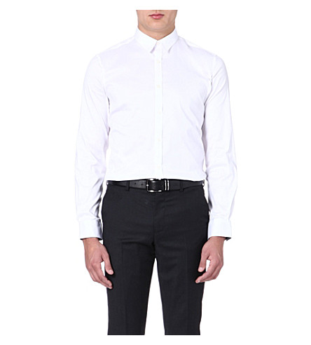 PS BY PAUL SMITH Slim-fit stretch-cotton shirt (White