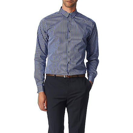 PS BY PAUL SMITH Gingham slim fit single cuff shirt (Purple