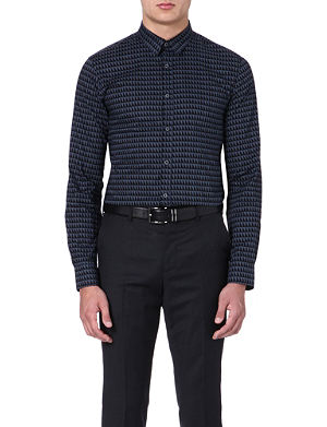 PS BY PAUL SMITH Triangle-print slim-fit shirt