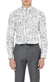 PS BY PAUL SMITH Slim-fit window sketch shirt