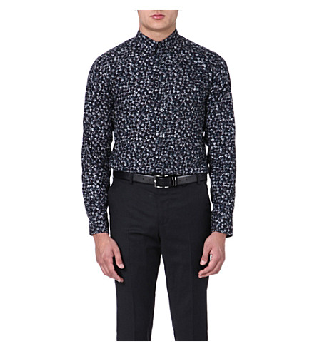 PS BY PAUL SMITH Flower bulbs slim-fit shirt (Grey