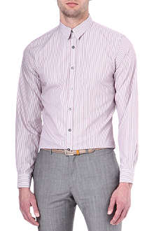 PS BY PAUL SMITH Striped dotted-cuff shirt