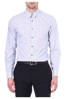 PS BY PAUL SMITH Tram-striped tailored single-cuff shirt