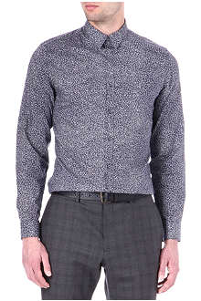 PS BY PAUL SMITH Floral slim-fit single-cuff shirt
