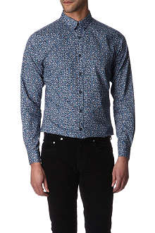PS BY PAUL SMITH Multicoloured floral-print slim-fit single cuff shirt