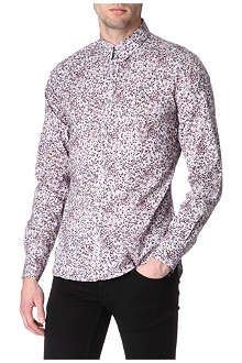 PS BY PAUL SMITH Smudge floral-print single cuff shirt