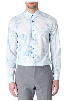 PS BY PAUL SMITH X-Ray floral-print single-cuff shirt