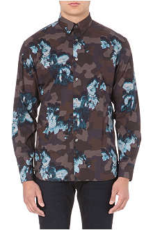 PS BY PAUL SMITH Floral overlay regular-fit shirt