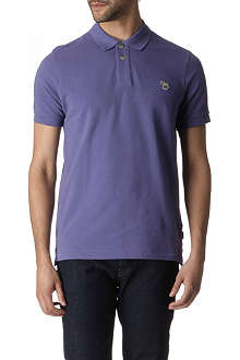 PAUL SMITH JEANS Zebra appliqué cotton-piqué polo shirt