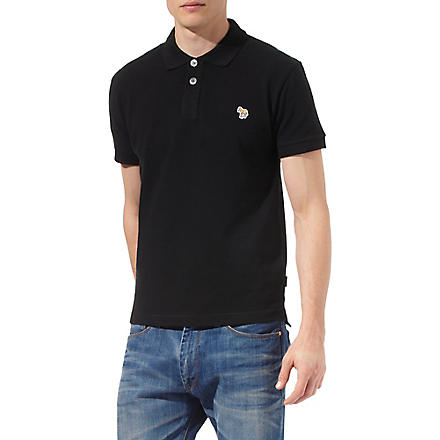 PAUL SMITH JEANS Zebra polo shirt (Black