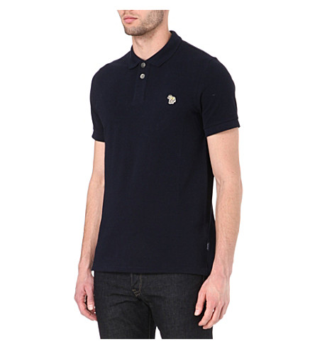 PAUL SMITH JEANS Zebra polo shirt (Navy