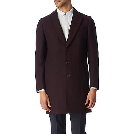 PS BY PAUL SMITH Birdseye epsom coat (Damson