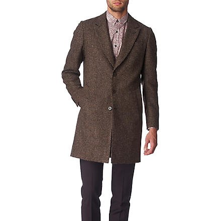 PS BY PAUL SMITH Houndstooth epsom coat (Chocolate