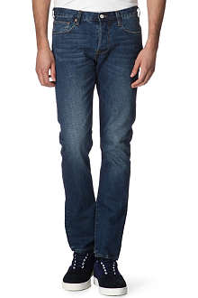 PAUL SMITH JEANS Slim-fit selvedge-denim tapered jeans