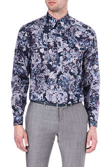 PS BY PAUL SMITH Floral-printed single-cuff shirt