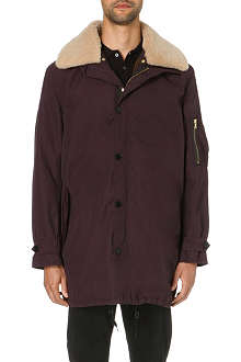 PS BY PAUL SMITH Sheepskin collar parka coat