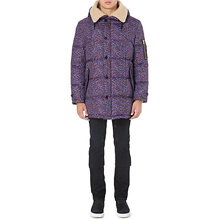 PS BY PAUL SMITH Quilted camo coat (Purple