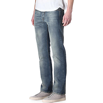 PAUL SMITH JEANS Standard regular-fit straight jeans (Lt+wash